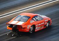 Sep 2, 2016; Clermont, IN, USA; NHRA pro mod driver Jonathan Gray during qualifying for the US Nationals at Lucas Oil Raceway. Mandatory Credit: Mark J. Rebilas-USA TODAY Sports