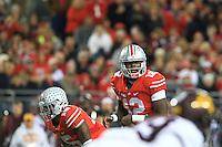 The Ohio State University Football team compete against the University of Minnesota. Columbus, OH, November 7, 2015