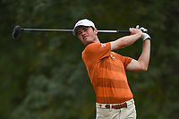 Cole Hammer (a)(USA) watches his tee shot on 11 during round 4 of the 2019 Houston Open, Golf Club of Houston, Houston, Texas, USA. 10/13/2019.<br /> Picture Ken Murray / Golffile.ie<br /> <br /> All photo usage must carry mandatory copyright credit (© Golffile | Ken Murray)