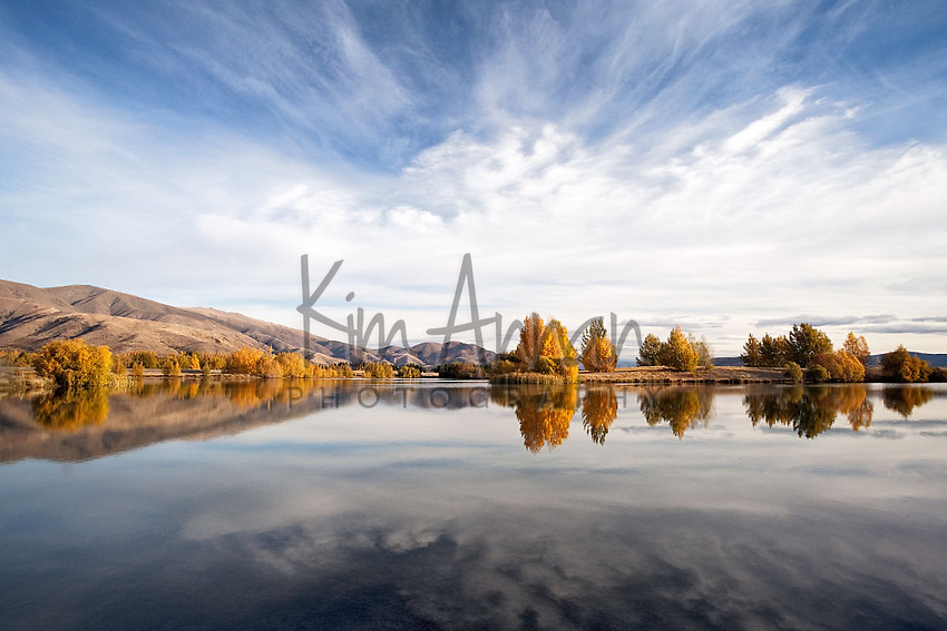kelland ponds, central otago, twizel, new zealand