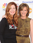 LOS ANGELES, CA - SEPTEMBER 07: Marg Helgenberger and Anne Sweeney arrive at Stand Up To Cancer at The Shrine Auditorium on September 7, 2012 in Los Angeles, California.