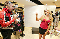 6/7/2010. Photographer Mark Doyle is pictured speaking to Claudine Keane wife of footballer Robbie Keane in Debenhams, Henry Street Dublin to launch Adore Moi by Ultimo. Picture James Horan/Collins Photos