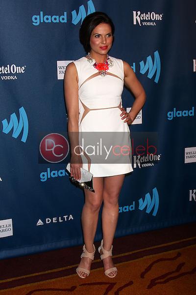 Lana Parrilla<br /> at the 24th Annual GLAAD Media Awards, JW Marriott, Los Angeles, CA 04-20-13<br /> David Edwards/DailyCeleb.Com 818-249-4998