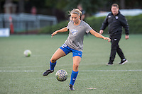 Allston, MA - Saturday Sept. 24, 2016: Stephanie Verdoia prior to a regular season National Women's Soccer League (NWSL) match between the Boston Breakers and the Western New York Flash at Jordan Field.