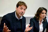 Tomaso Montanari e Anna Falcone in conferenza Stampa