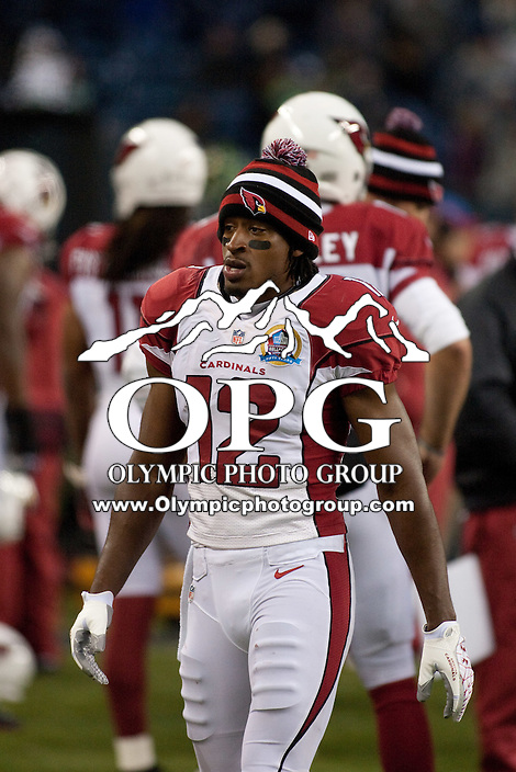 DEC 09, 2012:  Arizona's Andre Roberts against the Seattle Seahawks.  Seattle defeated Arizona 58-0 at CenturyLink Field in Seattle, WA...