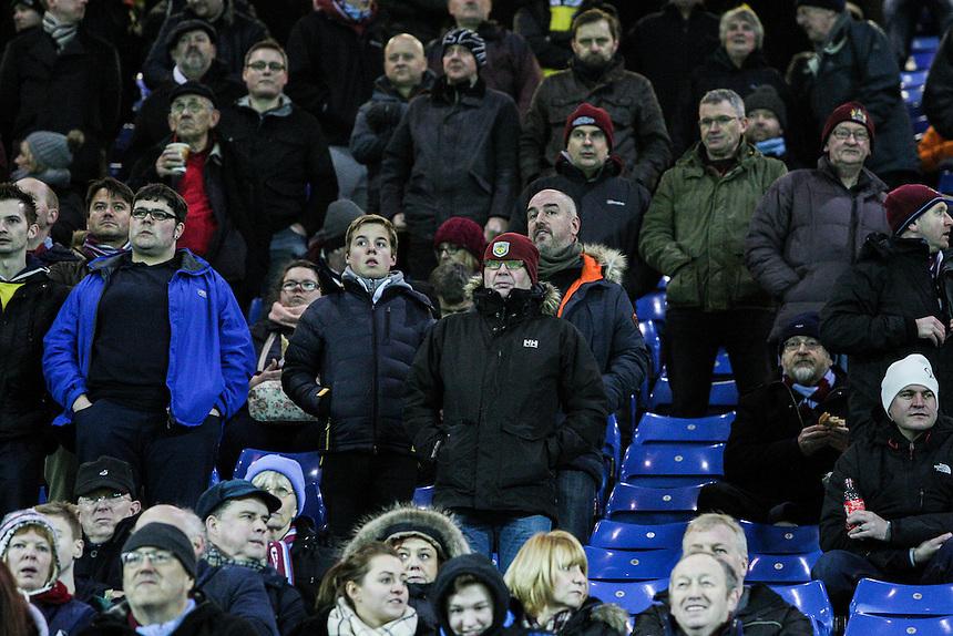 Burnley fans<br /> <br /> Photographer Alex Dodd/CameraSport<br /> <br /> Football - The Football League Sky Bet Championship - Sheffield Wednesday v Burnley - Tuesday 2nd February 2016 - Hillsborough - Sheffield<br /> <br /> &copy; CameraSport - 43 Linden Ave. Countesthorpe. Leicester. England. LE8 5PG - Tel: +44 (0) 116 277 4147 - admin@camerasport.com - www.camerasport.com