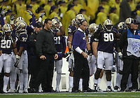 Oct 30, 20010:  Washington defensive coordinator Nick Holt watches from the sidelines against Stanford.  Stanford defeated Washington 41-0 at Husky Stadium in Seattle, Washington. ..