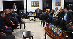 Acting Palestinian Prime Minister Rami Hamdallah inspects the inspects the preventive security and the military intelligence headquarters, in the West Bank city of Ramallah, on March 13, 2019. Photo by Prime Minister Office
