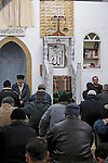 Eid al Adha holiday in the Circassian (Muslim) village Rehaniya in the Upper Galilee, Israel. The prayer at the Mosque 2005<br />