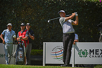 Patton Kizzire (USA) watches his tee shot on 2 during round 3 of the World Golf Championships, Mexico, Club De Golf Chapultepec, Mexico City, Mexico. 3/3/2018.<br /> Picture: Golffile | Ken Murray<br /> <br /> <br /> All photo usage must carry mandatory copyright credit (&copy; Golffile | Ken Murray)