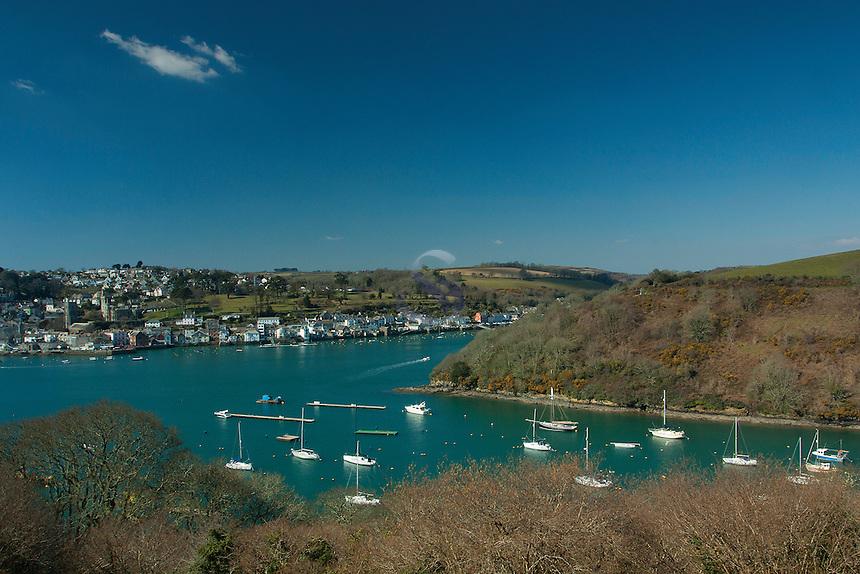 Fowey and the River Fowey from Polruan, Cornwall