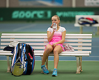 March 13, 2015, Netherlands, Rotterdam, TC Victoria, NOJK, Perla Nieuwboer (NED)   Margo Verbeet (NED)<br /> Photo: Tennisimages/Henk Koster
