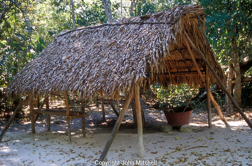 Traditional chiclero camp at Yaax Che Botanical Garden, Quintana Roo, Mexico