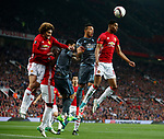Marcus Rashford of Manchester United defends a corner during the Europa League Semi Final 2nd Leg match at Old Trafford Stadium, Manchester. Picture date: May 11th 2017. Pic credit should read: Simon Bellis/Sportimage