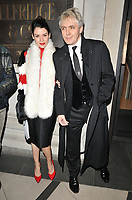 Nefer Suvio and Nick Rhodes at the LFW (Men's) a/w 2019 GQ Dinner, Brasserie of Light, Selfridges, Duke Street, London, England, UK, on Monday 07 January 2019.<br /> CAP/CAN<br /> &copy;CAN/Capital Pictures