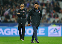 Martin Vasquez, assistant coach of team USA, reacts prior to the friendly match France against USA at the Stade de France in Paris, France on November 11th, 2011.