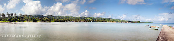 Panorama multi-shot of Courland Bay, Tobago