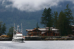 Yacht cruising into Princess Louisa Inlet