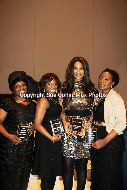Color of Beauty Awards honoring supermodel Beverly Johnson and Alexandreena Dixon and hosted by Delaina Dixon and Maureen Tokeson-Martin on February 4, 2014 at Holy Apostles, New York City, New York. (Photo by Sue Coflin/Max Photos)
