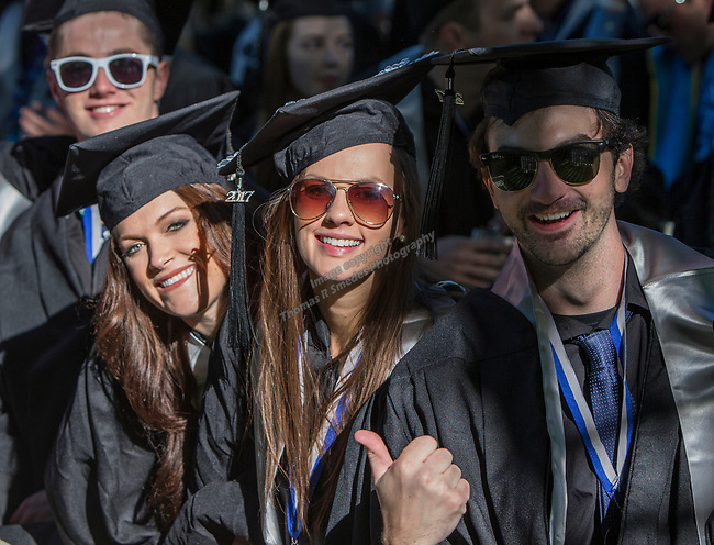A photograph from the University of Nevada College of Business and Division of Health Sciences graduation ceremony on Friday morning, May 19, 2017.