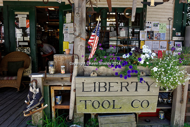 Exterior of the Liberty Tool Company, Liberty, Maine, USA