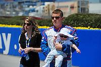 Apr 25, 2009; Talladega, AL, USA; NASCAR Nationwide Series driver Shelby Howard prior to the Aarons 312 at the Talladega Superspeedway. Mandatory Credit: Mark J. Rebilas-
