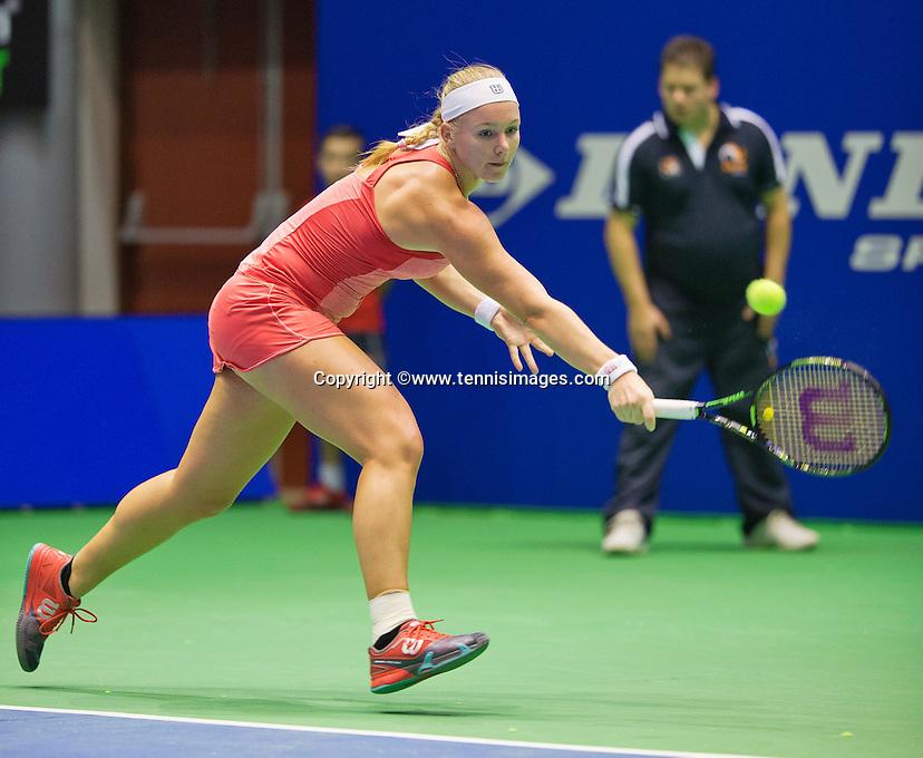 Rotterdam, Netherlands, December 18, 2015,  Topsport Centrum, Lotto NK Tennis, Kiki Bertens (NED)<br /> Photo: Tennisimages/Henk Koster