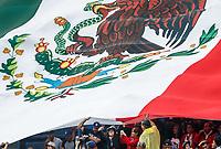 Bandera de Mexico. Mexican Flag .<br /> Baseball action during the Los Angeles Dodgers game against San Diego Padres, the second game of the Major League Baseball Series in Mexico, held at the Sultans Stadium in Monterrey, Mexico on Saturday, May 5, 2018 .<br /> (Photo: Luis Gutierrez)<br /> <br /> Acciones del partido de beisbol, durante el encuentro Dodgers de Los Angeles contra Padres de San Diego, segundo juego de la Serie en Mexico de las Ligas Mayores del Beisbol, realizado en el estadio de los Sultanes de Monterrey, Mexico el sabado 5 de Mayo 2018.<br /> (Photo: Luis Gutierrez)