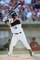 May 25, 2008: Larry Cobb (18) of the Kane County Cougars at bat against the Quad Cities River Bandits at Elfstrom Stadium in Geneva, IL. Photo by: Chris Proctor/Four Seam Images