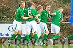 Ireland celebrate after scoring a goal against Estonia U-16 International friendly at Pat Kennedy PArk Listowel on Tuesday