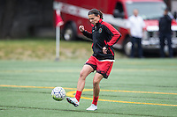 Seattle, Washington - Saturday May 14, 2016:  Portland Thorns FC forward Christine Sinclair (12) during warmups at Memorial Stadium on Saturday May 14, 2016 in Seattle, Washington. The match ended in a 1-1 draw