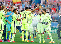 FC Barcelona´s players celebrating the championship