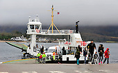 The Corran Ferry at the pier at Nether Lochaber, completing the short crossing from Ardgour - Highland Council, who run the service, voted to raise fares by about 2% after public pressure forced a u-turn from a proposed 13% increase to the current £8 one-way fare levied for the 500m crossing - see story - picture by Donald MacLeod 12.3.15 clanmacleod@btinternet.com www.donald-macleod.com