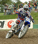 Motocross, MX2 WM 2004, Weltmeisterschaft, Grand Prix of Europe, Gaildorf (Germany) Anthony Boissiere (FRA), Yamaha