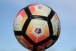 CARY, NC - APRIL 08: 2017 NWSL match ball. The NWSL's North Carolina Courage played a preseason game against the University of North Carolina Tar Heels on April 8, 2017, at WakeMed Soccer Park Field 3 in Cary, NC. The Courage won the match 1-0.