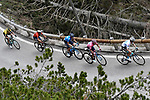 The main contenders, Maglia Bianca Miguel Angel Lopez Moreno (COL) Astana, Maglia Rosa Richard Carapaz (ECU) and Mikel Landa Meana (ESP) Movistar, Vincenzo Nibali (ITA) Bahrain-Merida and Primoz Roglic (SLO) Jumbo-Visma, in action during Stage 20 of the 2019 Giro d'Italia, running 194km from Feltre to Croce d'Aune-Monte Avena, Italy. 1st June 2019<br /> Picture: Fabio Ferrari/LaPresse | Cyclefile<br /> <br /> All photos usage must carry mandatory copyright credit (© Cyclefile | Fabio Ferrari/LaPresse)