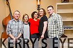 Sandra Lobezramirez from Monavalley Tralee celebrating her 28th Birthday with family at The Roast House on Saturday  Malcolm O'Sullivan, Ciara O'Sullivan, Sandra Lobezramirez, Patrick Flynn, Siobhan Flynn