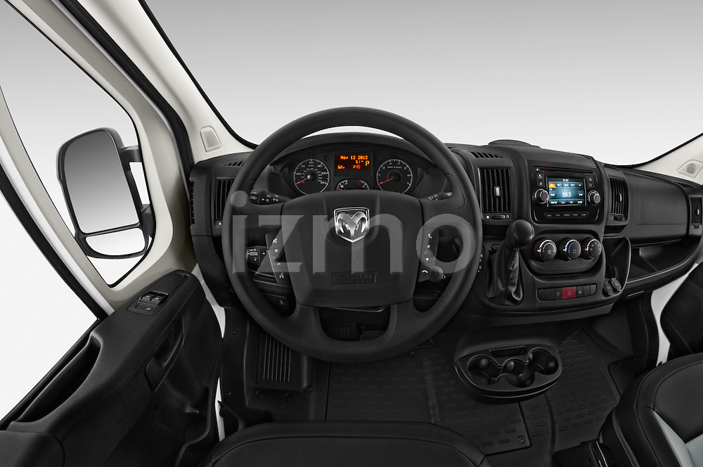 Car pictures of steering wheel view of a 2015 Ram Promater 1500 118 Wb  4 Door Cargo Van