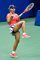 NEW YORK, USA - SEPT 10, Angelique Kerber of Germany celebrates a point against Karolina Pliskova of Czech Republic during their Women's Singles Final Match of the 2016 US Open at the USTA Billie Jean King National Tennis Center on September 10, 2016 in New York.  photo by VIEWpress