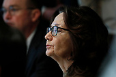 Gina Haspel, Director, Central Intelligence Agency (CIA) attends a Cabinet Meeting at the White House in Washington, DC on October 21, 2019.<br /> Credit: Yuri Gripas / Pool via CNP