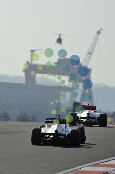 Formula 1 Race 16, GP of Korea, Yeongam - 12.-14. Okt. 2012.Michael Schumacher (GER), Mercedes GP - Jenson Button (GBR),  McLaren F1 Team  ...Picture: Hasan Bratic/Universal News & Sport (Europe) 12 October 2012.
