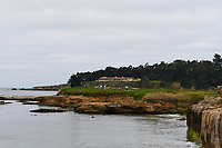 A long shot of the green on 17 during round 1 of the 2019 US Open, Pebble Beach Golf Links, Monterrey, California, USA. 6/13/2019.<br /> Picture: Golffile | Ken Murray<br /> <br /> All photo usage must carry mandatory copyright credit (© Golffile | Ken Murray)