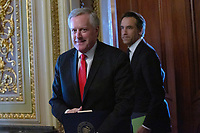 Incoming White House Chief of Staff, United States Representative Mark Meadows (Republican of North Carolina) leaves the Reception Room at the United States Capitol in Washington D.C., U.S. on Tuesday, March 24, 2020.  The Senate is working to finalize a deal on the Coronavirus Stimulus Package, after it was blocked by Senate Democrats two days in a row.  Credit: Stefani Reynolds / CNP/AdMedia