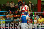Battling it out in the ring at the boxing competitions in Ballybunion on Thursday night were John Paul Keating West Clare boxing club and Brian O'Connor, from The Cashen Vale boxing club Ballybunionr....   Copyright Kerry's Eye 2008
