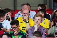 Swansea City fans in action during the Sky Bet Championship match between Bristol City and Swansea City at Ashton Gate in Bristol, England, UK. Saturday 21 September 2019
