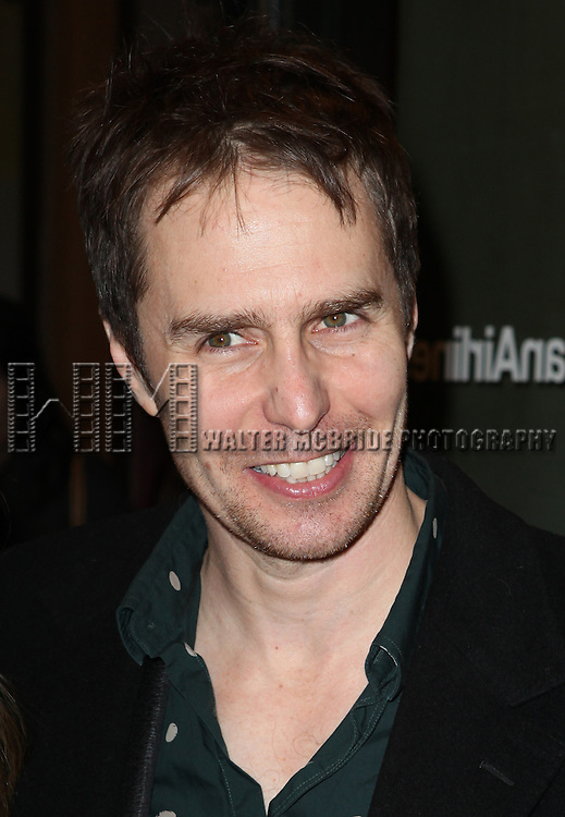 Sam Rockwell attending the Opening Night Performance of the Roundabout Theatre Company's Broadway Production of 'Picnic' at The American Airlines Theatre in New York City on 1/13/2013