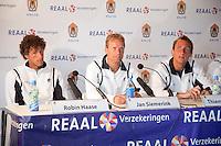 17-06-10, Tennis, Rosmalen, Unicef Open, Persconferentie Daviscup, v.l.n.r.: Robin Haase, Captain Jan Siemerink en Thiemo de Bakker