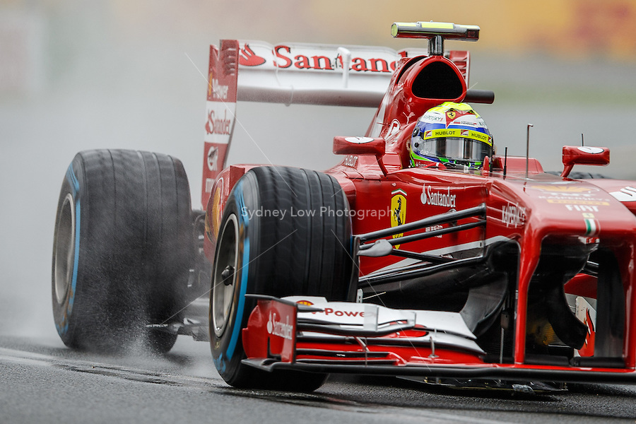 MELBOURNE, 16 MARCH - Felipe Massa (BRA) from the Scuderia Ferrari team rounds turn six in free practice session three on day three of the 2013 Formula One Rolex Australian Grand Prix at the Albert Park Circuit in Melbourne, Australia. Photo Sydney Low / syd-low.com