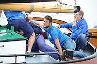 ZEILEN: SNEEK: Snitser Mar, SKS Waterpoortrace Skûtsje Heerenveen Gerben van Manen, Sytze Brouwer schipper, ©foto Martin de Jong